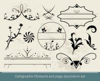 Kalligrafische Elementen Royalty-vrije Stock Foto's
