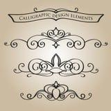 Kalligrafische elementen Stock Foto