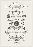 Kalligrafische Elementen Stock Afbeeldingen
