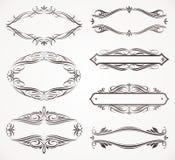 Kalligrafische frames Royalty-vrije Stock Fotografie