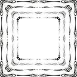 Kalligrafische frames Royalty-vrije Stock Afbeelding