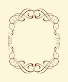 Kalligrafische frames wijnoogst Vector illustratie Stock Afbeeldingen