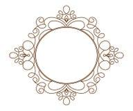 Kalligrafische frames wijnoogst Vector illustratie Stock Foto