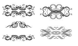 Kalligrafische inzameling Royalty-vrije Stock Afbeeldingen