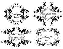 Kalligrafische inzamelingsreeks Royalty-vrije Stock Afbeeldingen
