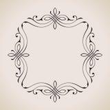 Kalligrafische Kader en Paginadecoratie Vector Royalty-vrije Stock Fotografie