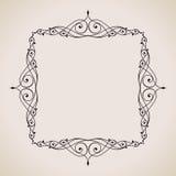 Kalligrafische Kader en Paginadecoratie Vector Stock Foto's