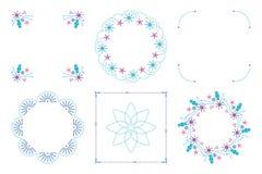 Kalligrafische kader en paginadecoratiereeks Vector illustratie Royalty-vrije Stock Afbeelding