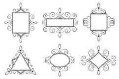 Kalligrafische Kaders Royalty-vrije Stock Fotografie