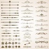 Kalligrafische Kaders en Geplaatste Grenselementen Royalty-vrije Stock Foto