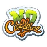 Geen Cafeïne royalty-vrije illustratie