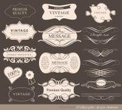 Kalligrafische ontwerpelementen Royalty-vrije Stock Foto