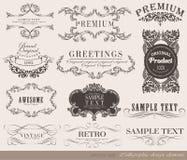 Kalligrafische ontwerpelementen Stock Foto's
