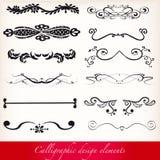 Kalligrafische ontwerpelementen Royalty-vrije Stock Afbeeldingen