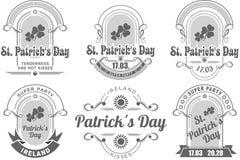 Kalligrafische St Patrick van Ontwerpelementen Dag Stock Afbeelding