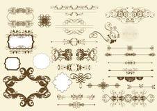 Kalligrafische vectorontwerpelementen Royalty-vrije Stock Foto's