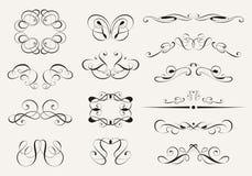 Kalligrafiuppsättning Royaltyfri Bild