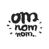 Kalligraphie-Beschriftung OM Nom Nom Stockfoto