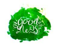 Kalligraphie des Konzeptes der guten Nachrichten vektor abbildung