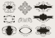 Kalligraphie-Satz Lizenzfreie Stockfotos