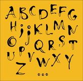 Kalligraphiealphabet Lizenzfreies Stockbild