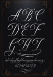 Kalligraphiebeschriftung mit Zahlen Lizenzfreies Stockbild