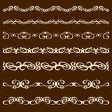 Kalligraphieverzierungs-Bürstensatz Stockfotos