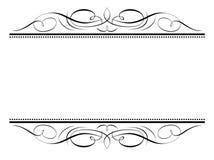 Kalligraphievignetten-Kalligraphiefeld Lizenzfreies Stockbild