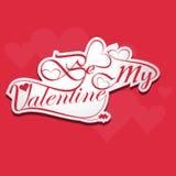 Kalligraphisch seien Sie mein stilvoller Text der Valentinsgrußschlagzeile Lizenzfreie Stockbilder