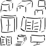 Kalligraphische Abbildungen Stockfotografie