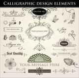 Kalligraphische Auslegung-Elemente Lizenzfreie Stockfotografie