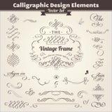 Kalligraphische Auslegung-Elemente Lizenzfreie Stockfotos