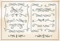 Kalligraphische Auslegungelemente Stockbild