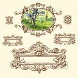 Kalligraphische Auslegungelemente und Seitendekoration Lizenzfreies Stockfoto