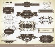 Kalligraphische Gestaltungselemente Stockbild