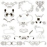 Kalligraphische Gestaltungselemente und Seitendekoration stock abbildung