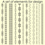 Kalligraphische Gestaltungselemente 2 - Vektorsatz Auch im corel abgehobenen Betrag Lizenzfreie Stockbilder