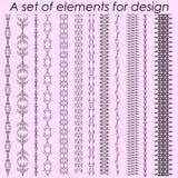 Kalligraphische Gestaltungselemente 1 - Vektorsatz Auch im corel abgehobenen Betrag Stockbild