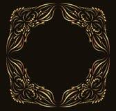 Kalligraphischer aufwändiger Goldvektorrahmen vektor abbildung
