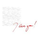 Kalligraphischer Hintergrund für Valentinstag Stockbilder