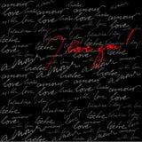 Kalligraphischer Hintergrund für Valentinstag Lizenzfreies Stockbild