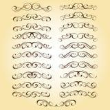 Kalligraphisches elegantes Elementdesign Auch im corel abgehobenen Betrag stock abbildung