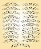 Kalligraphisches elegantes Elementdesign Auch im corel abgehobenen Betrag lizenzfreie abbildung