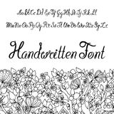 Kalligraphisches Skriptalphabet Handwritter Sie können es als Guss für Ihr Design verwenden Lizenzfreie Stockfotografie
