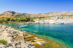 Kallithea sea bay on Rhodes Stock Images
