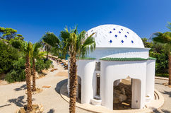 Kallithea Springs old spa building. Beautiful greek architecture symbols in Kalithea Springs Stock Photo