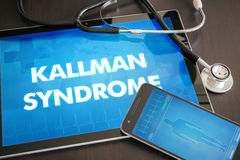 Kallman syndrome (endocrine disease) diagnosis medical concept o Royalty Free Stock Photography