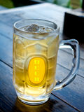 Kallt ölexponeringsglas Royaltyfri Foto