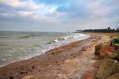 Kallt baltiskt hav Arkivfoto