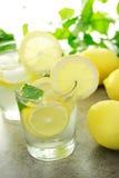 Kallt citronvatten Fotografering för Bildbyråer